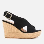 UGG Women's Harlow Suede Wedged Sandals - Black