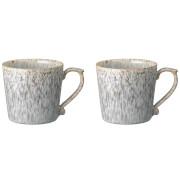Denby Halo Speckle Large Mugs - 390ml (Set of 2)