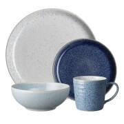 Denby Studio Blue 16 Piece Tableware Set