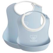 BABYBJÖRN Baby Feeding Bib - Blue (2 Pack)