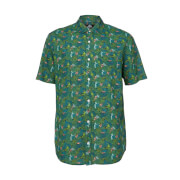 Jurassic Park Raptor Floral Printed Shirt