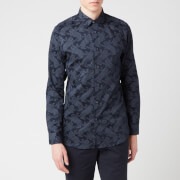 Ted Baker Men's Getout Cat Printed Shirt - Navy