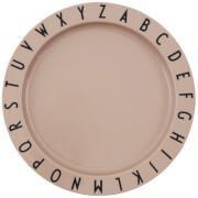 Design Letters Eat & Learn Tritan Deep Plate - Nude