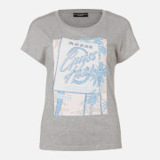 Guess Women's Short Sleeve RN Glamour T-Shirt - Stone Grey Heather