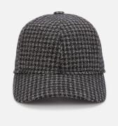 Ted Baker Men's Prestun Micro Check Baseball Cap - Charcoal