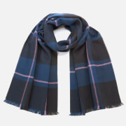 Ted Baker Men's Surprise Checked Scarf - Navy
