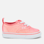 Vans Toddler's Neon Glitter Elastic Lace Trainers - Pink/True White