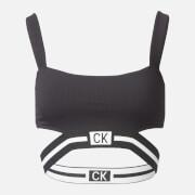Calvin Klein Women's Strap Bandeau Bikini Top - Black