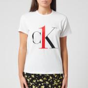 Calvin Klein Women's Sleep Short Sleeve Crew Neck T-Shirt - White