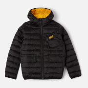Barbour Boys' Ouston Hooded Quilted Jacket - Black/Yellow