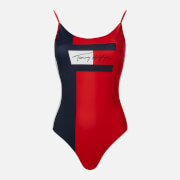 Tommy Hilfiger Women's One Piece Swimsuit - Pitch Blue