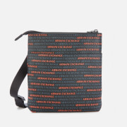 Armani Exchange Men's All Over Logo Small Cross Body Bag - Multi