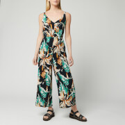 Whistles Women's Tropical Floral Jumpsuit - Green/Multi