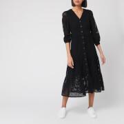 Whistles Women's Sara Broderie Midi Dress - Black