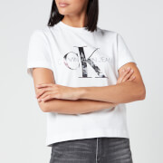 Calvin Klein Jeans Women's New York Print CK T-Shirt - Bright White