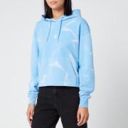 Calvin Klein Jeans Women's Lava Dye Cropped Hoodie - Powdery Blue