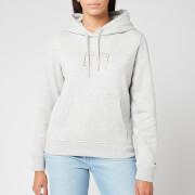 Tommy Jeans Women's Essential Logo Hoody - Light Grey Heather