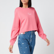 Tommy Jeans Women's Washed Logo Crew Neck Sweatshirt - Glamour Pink
