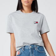 Tommy Jeans Women's Tommy Badge T-Shirt - Light Grey Heather