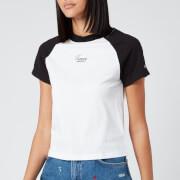 Tommy Jeans Women's Tommy Raglan T-Shirt - Black/White