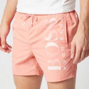 BOSS Men's Octopus Swim Shorts - Light/Pastel Red