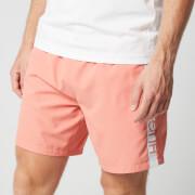 BOSS Men's Dolphin Swim Shorts - Light/Pastel Red