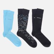 BOSS Men's Triple Pack Sock Gift Set - Dark Blue