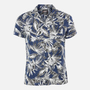 Superdry Men's Edit Cabana Shirt - Blue Palm