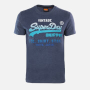 Superdry Men's Fade Store T-Shirt - Princedom Blue Marl
