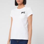 Karl Lagerfeld Women's Ikonik Karl Pocket T-Shirt - White
