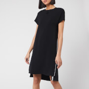 Karl Lagerfeld Women's Cady Dress with Snap Details - Black