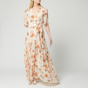 Hope & Ivy Women's Floral Maxi Wrap Dress - Cream