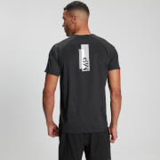 Men's Printed Training Short Sleeve T-Shirt - Black