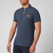 Superdry Men's Classic Pique Polo Shirt - Creek Navy Grindle
