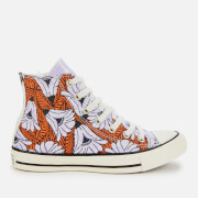Converse Women's Chuck Taylor All Star Hi-Top Trainers - Egret/Orange/Light Blue