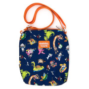 Loungefly Nickelodeon Retro Characters Aop Nylon Passport Bag
