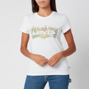 Levi's Women's The Perfect T-Shirt - Batwing Desert Fill White
