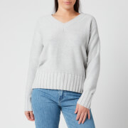Tommy Hilfiger Women's Aimy V Neck Sweatshirt - Light Grey Heather