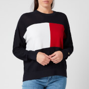 Tommy Hilfiger Women's Icon Flag Crew Neck Sweatshirt - Desert Sky