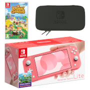 Nintendo Switch Lite (Coral) Animal Crossing: New Horizons Pack