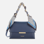 Ted Baker Women's Elsy Scarf Chain Bar Detail Cross Body Bag - Navy