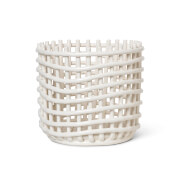 Ferm Living Ceramic Basket - Off White - Large