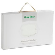 The Little Green Sheep Organic Cotton Moses Basket Jersey Fitted Sheet - White