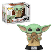 Star Wars The Mandalorian The Child (Baby Yoda) with Frog Funko Pop! Vinyl