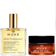 NUXE Exclusive Huile Prodigieuse Oil and Lip Balm Duo (Worth £40.00)