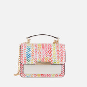 MICHAEL MICHAEL KORS Women's Jade XS Gusset Cross Body Bag - Bright White Multi