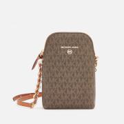 MICHAEL MICHAEL KORS Women's Jet Set Charm Small Chain Phone Cross Body Bag - Brown/Acorn