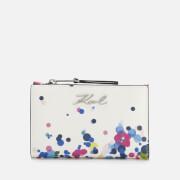 Karl Lagerfeld Women's K/Signature Special Degrade Zip Wallet - White