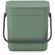 Brabantia Sort & Go 3 Litre Waste Bin - Fir Green