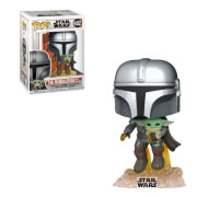 Star Wars The Mandalorian Mandalorian Flying with Jet Funko Pop! Vinyl